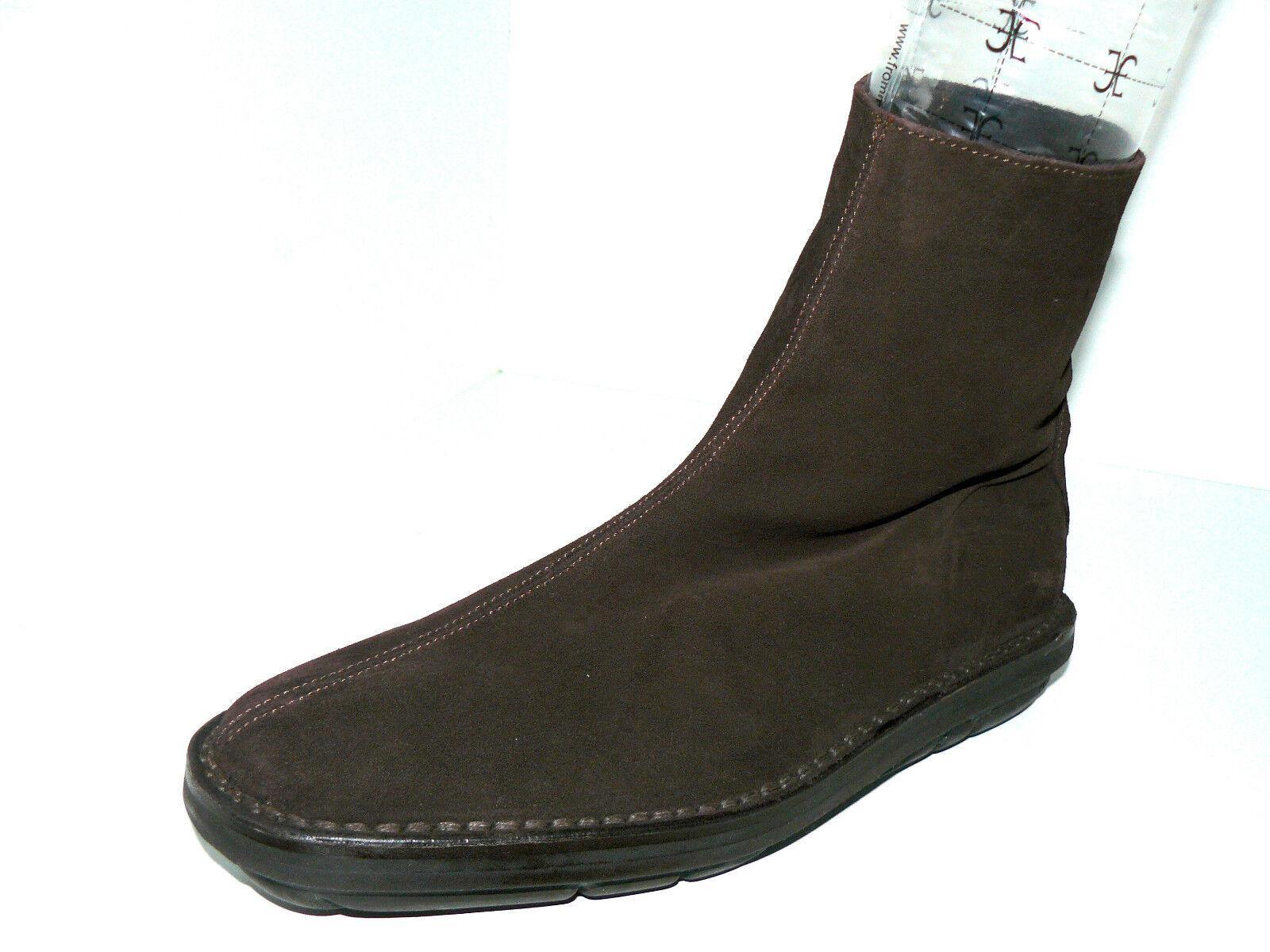BALLY Damen dunkelbraune Wildleder Stiefel Stiefeletten 40 UK 6,5 Lammfell Damen BALLY NEU 93933f