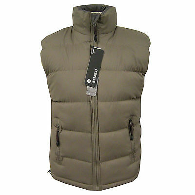 Mens Quilted Padded Lined Gilet Gillet Sleeveless Coat Body Warmer Jacket 2 Side