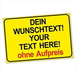 Warn-Schild-Schilder-Aufkleber-Baustelle-Individuell-Text-nach-Wunsch-DRU-0219