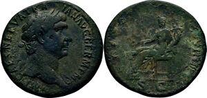 Sesterz 101-102 RÖmische Kaiserzeit Traian, 98-117 Concordia #alb.1198