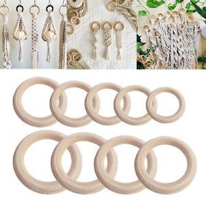 2pc-Rund-Kreis-Hoelzern-Ring-Unfinished-Holz-Ornaments-DIY-Schmuck-Armband-Bastel