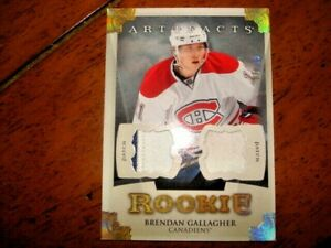 13-14-Artifacts-Brendan-Gallagher-Rc-Dual-Patch-Gold-15-155-SSP-Rookie