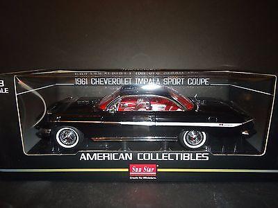 SunStar Chevrolet Impala Sport Coupe 1961 Black 1/18