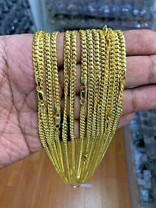 Uhren & Schmuck Herrenschmuck Sinnvoll Herren Miami Kuba Link Kette 14k Gold über Massiv 925 Sterling Silber 2.6mm Chinesische Aromen Besitzen