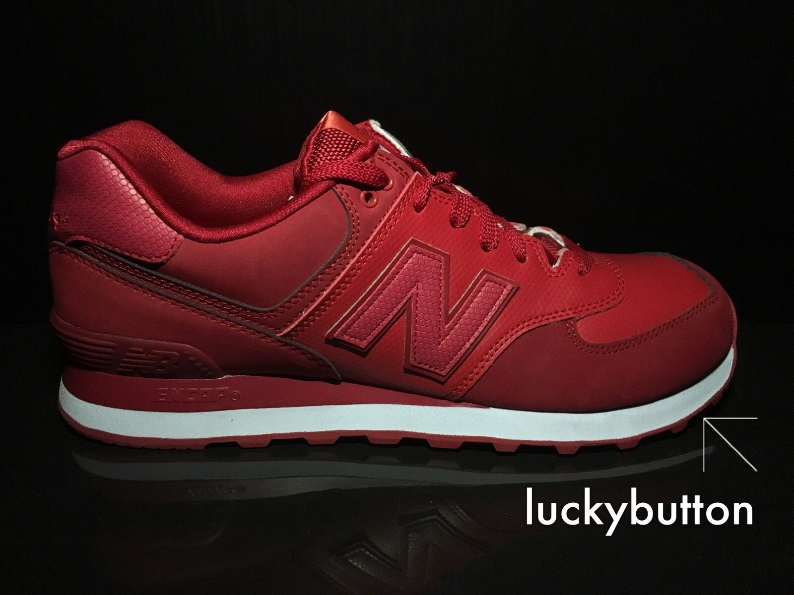 New Balance ML574RD Men's Red/White Running Casual Shoes US 10.5