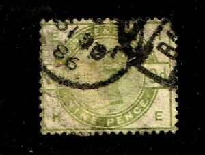Great-Britain-stamp-106-used-Queen-Victoria-1883-84-9p-green-SCV-475