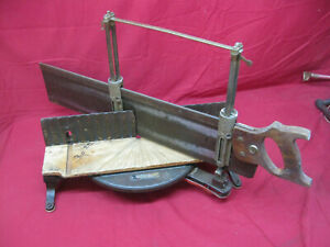 Vintage-Stanley-No-358-Adjustable-Miter-Box-amp-Saw