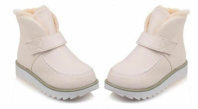 Stiefel Damenschuhe M Absatz 3 cm Beige Leder Kunststoff Komfortabel 9147