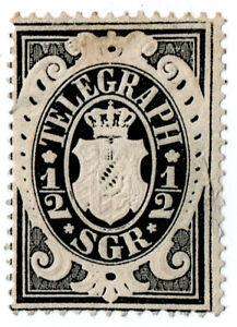 (I.B) Germany Telegraphs : Bavaria ½sgr