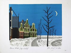 Jean-Picart-le-Doux-1902-1982-Artist-039-s-Proof-Winter-in-Holland-Aubusson
