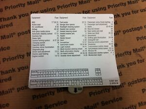 BMW FUSE BOX LOCATION DIAGRAM CARD FOR GLOVE BOX E39 5 SERIES | eBayeBay
