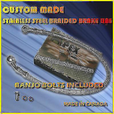 HARLEY DAVIDSON CUSTOM STAINLESS S BRAIDED BRAKE LINE