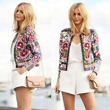 Women Ladies Crochet Slim Kimono Tops Coat Floral Cardigan Blazer ...