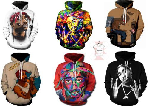 Tupac Hip Hop Music Rapper Art 2Pac Hoodie Men Women Sweatshirt 3D Print S-6XL