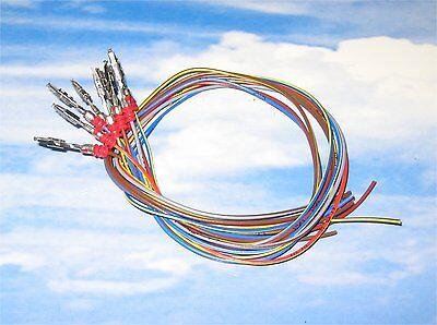 10x 30cm Reparatur-Leitungen Kabel 0,35mm² 000979012E Kontakt VW Audi Seat BMW