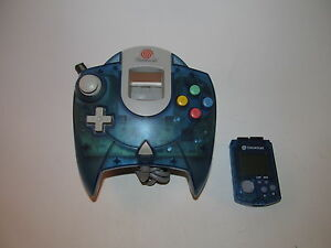 Official-SEGA-Dreamcast-Controller-Clear-Blue-w-Matching-VMU-New-Batteries-OEM