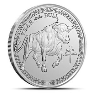 2021-1-oz-999-Fine-Silver-Year-of-the-Bull-Pure-silver-Round-IN-STOCK