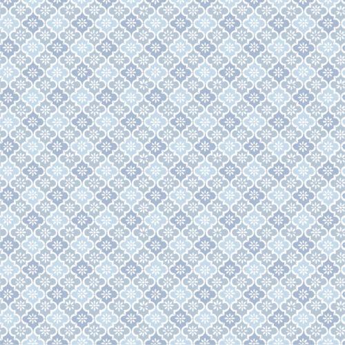 PiP Spannbettlaken Petit Tile Blau 160x200 cm Baumwolle Perkal Blau Pip Studio