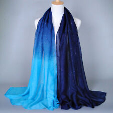 Womens Scarf Neck Scarves Wrap Long Plain Chiffon Ladies Soft Stole Shawl Cape