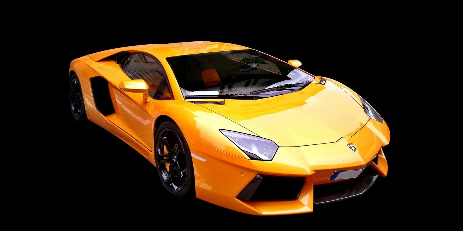 Lamborghini Sport Racing Car Road Hiking HD POSTER