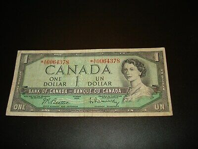 One 1973 Canada 1 Dollar IE Canadian Uncirculated Consecutive Banknote Bill I717