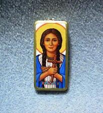 St. Kateri Tekakwitha Catholic Recycled Domino Necklace Patron Environment KT7