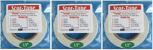Sookwang-Scor-Tape-THREE-Roll-Lot-1-2-034-x-27-yards-Double-sided-Adhesive-Tape