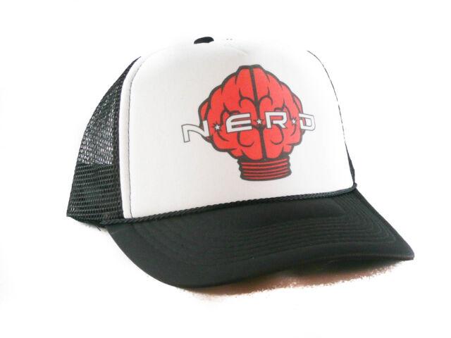 1f6d2d2c781b5 Nerd Neptunes Red Logo Trucker Hat Mesh Hat Snapback Hat Black for ...