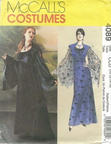 McCall/'s 4089 Misses/' Gothic Costumes    Sewing Pattern