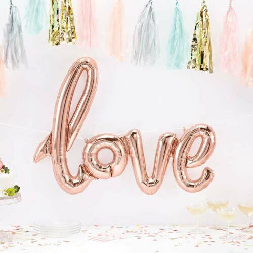 """16/"""" Rose gold Happy Birthday 16//18//21st//30//40//50//60th Decoration Balloons Banner"""