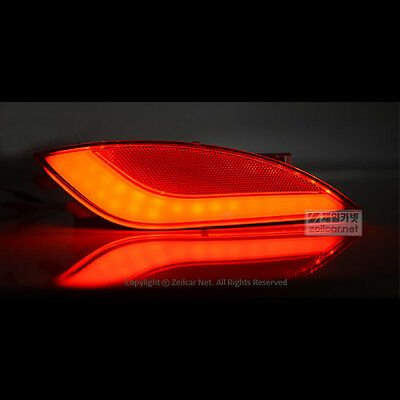 LED Rear Bumper Reflector Brake Lights For Hyundai Tucson ix35 2010~2013