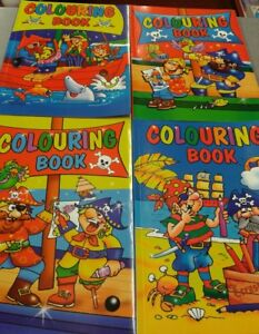 6-x-a4-CHILDRENS-KIDS-COLOURING-BOOK-NEW-pirates