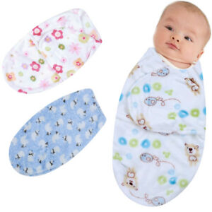 Baby Swaddle Wrap Flannel Warm Blanket Swaddling Infant Sleep Sack