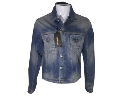 Meltin pot giacca giubbotto jeans jheremy uomo elasticizzato azzurro S M L nuovo