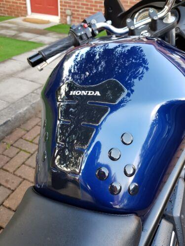 Shiny//Gloss Black tank pad for Honda motorcycles Hornet CBR CB VFR VTR /& more
