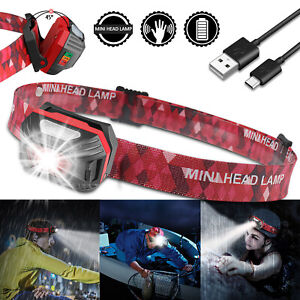 USB-Rechargeable-LED-Headlamp-Flashlight-Headlight-Head-Torch-Sensor-Waterproof