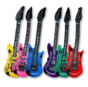 Generique Guitare Gonflable Rose