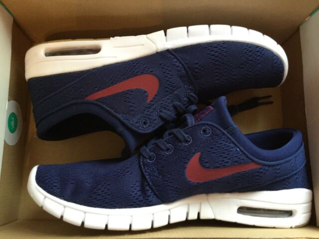 88c05329212 Nike SB Stefan Janoski Max Size 10 Blue Red White 631303-469 Mens Skate  Shoes for sale online
