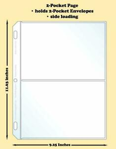 Best-Hobby-Pages-2-Pocket-Traditional-Polypropylene-Archival-Page-Pack-of-100