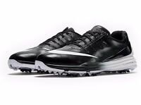 Nike Lunar Control 4 Men's Golf Shoes Black White 11 Medium 819037 001
