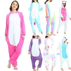 Image is loading Womens-Mens-Unicorn-Kigurumi-Cosplay-Costume-Pyjamas- Nightwear- 34e3b563c