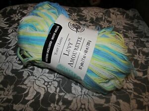 NEW-LOOPS-AND-THREADS-LUVY-Blue-and-Yellow-Medium-Yarn-200-g-Polyester-Turkey