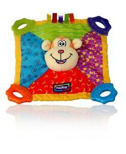Teethers Nuby Teething Blankie Monkey Lovey Security Comfort Teether Multi-color High Quality Goods Baby