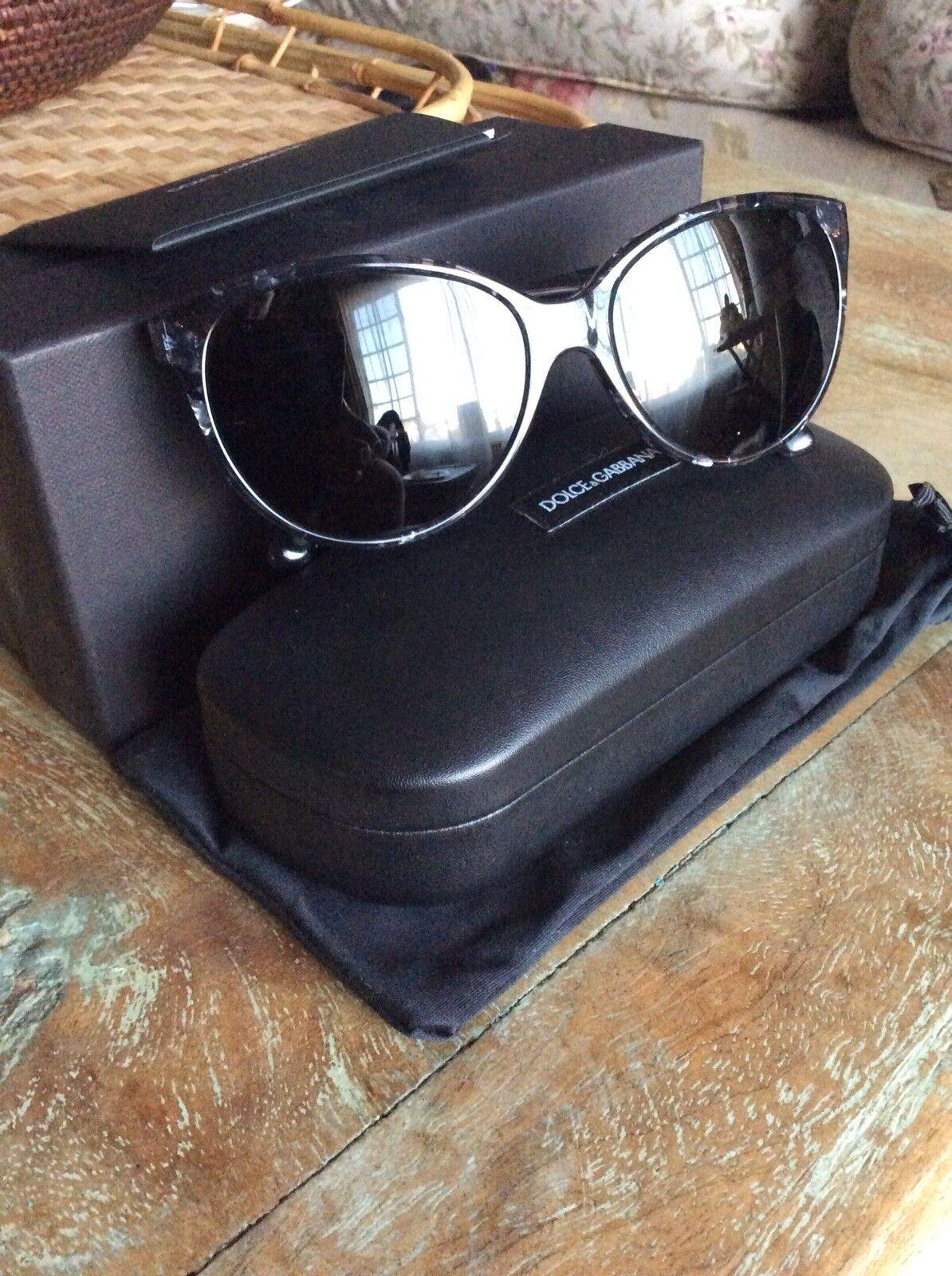 Dolce Gabbana Acrylic Cat Eye Oval Sunglass Frames W/Box, Have Prescription Lens