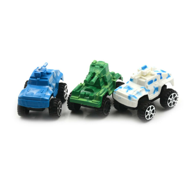 Children's Plastic Puzzle Tank Toy Pull Back War Military Car Model Gift Toys gx