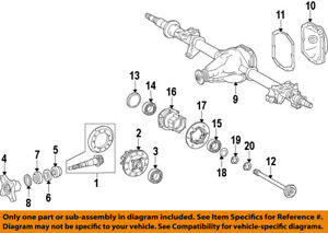 Details about MERCEDES OEM 10-17 Sprinter 3500 Rear Differential-Pinion  Seal 0159970346