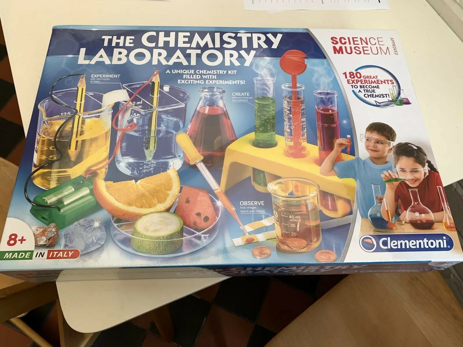 The Chemistry Laboratory Set 61284 By Clementino with 180 Experiments Science 8+