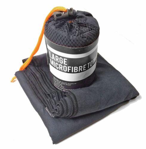 Milestone Camping Microfibre Towel - Black, Large