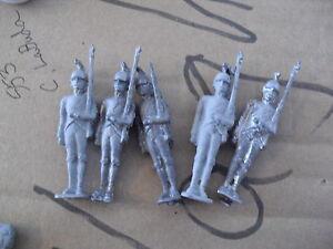 Lot-of-5-Vintage-Lead-Soldier-Figurines-2-3-4-034-LOOK