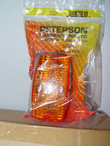 2-Peterson Manufacturing  Rectangular Turn Signal Lights Amber 393A